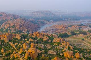 南インド ハンピの眺望の写真・画像素材[4381163]
