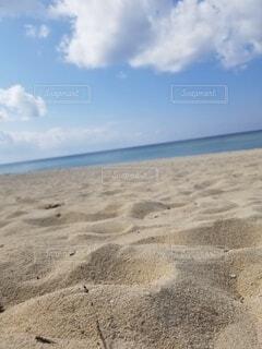 空,屋外,砂,ビーチ,雲,水面,砂浜 青空 海