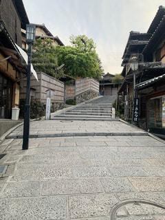 風景,空,建物,屋外,京都,石畳,和,二寧坂