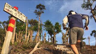山頂を目指して走るの写真・画像素材[4354329]