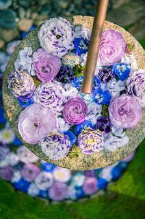 花,花束,綺麗,バラ,草,薔薇,草木,花手水