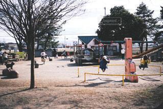 公園,屋外,ブランコ,子供たち