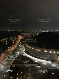 空,建物,夜,屋内,高層ビル