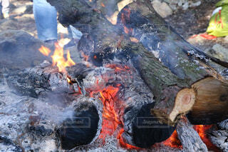 自然,屋外,山,煙,炎,暖炉,火,たき火,炭,灰