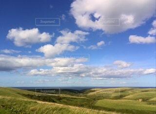 風景,絶景,雲,青空,北海道,地平線,広大,宗谷丘陵,北の大地