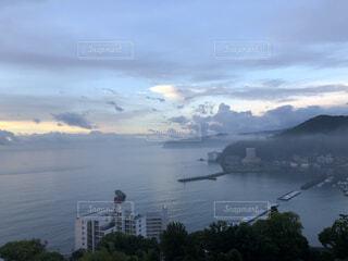 海,空,雲,青空,景色,朝焼け,日本,朝,早朝,天気