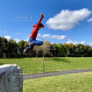 ジャンプの瞬間の写真・画像素材[4370655]