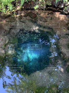 自然,屋外,湖,水面,水色,岩,旅行,蒼,吸い込まれる,深い