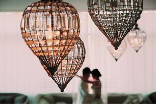 屋内,白,キラキラ,幸せ,新郎新婦,熱気球,ウェディング