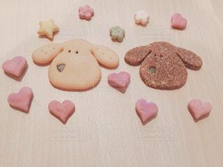 食べ物,ピンク,カラフル,黄色,茶色,デザート,おやつ,クッキー,可愛い,ビスケット,菓子,スナック,犬用