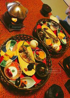旅館での小鉢たくさん美味しいご飯の写真・画像素材[4452755]
