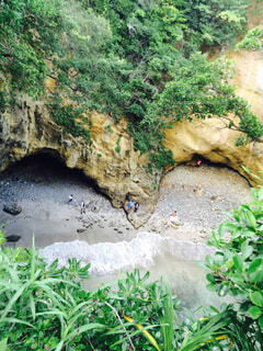 自然,海,屋外,洞窟,草木,地形