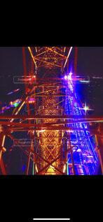 夜,夜景,観覧車,タワー,高層ビル,明るい