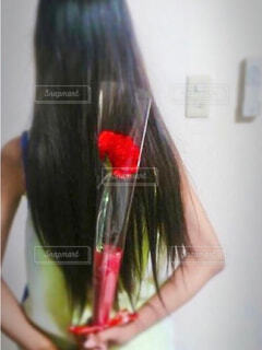 一輪の花の写真・画像素材[4395473]