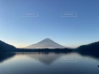 自然,風景,空,富士山,屋外,湖,雲,ボート,水面,山