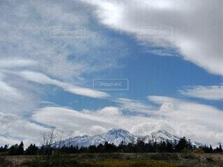 雪,屋外,雲,青空,山,ダイナミック,残雪,妙高山