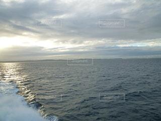 自然,海,空,屋外,湖,雲,船,水面