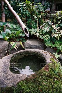 岩に落ちる水滴の写真・画像素材[4360052]