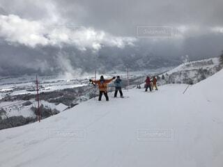 自然,空,雪,屋外,山,人物,スキー,スキー場,スノーボード