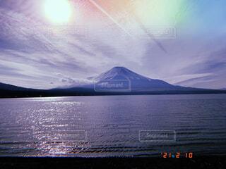 自然,風景,空,富士山,屋外,湖,雲,水面,山