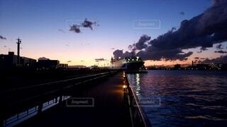 風景,空,屋外,夕暮れ,船,旅行