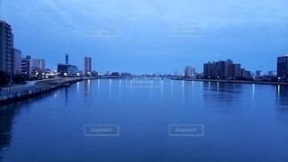風景,空,建物,屋外,雲,川,水面,都会,高層ビル