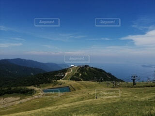 自然,風景,空,屋外,雲,山,草,丘