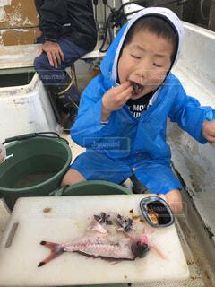 沖縄,人物,人,宮古島,刺身,男の子,お造り,海釣り,7歳,グルクン
