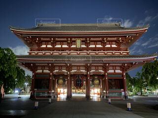 風景,空,建物,夜景,屋外,浅草寺,寺,仏教,建築,夜の浅草,緊急事態宣言下