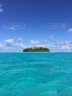 自然,海,空,屋外,海外,緑,ビーチ,雲,青,水面,ボラボラ島,タヒチ,日中
