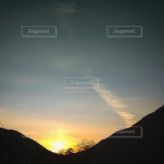 自然,風景,空,屋外,太陽,雲,夕暮れ,山,山腹