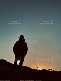 夕暮れの中にの写真・画像素材[4393451]
