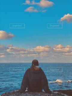 崖の先にの写真・画像素材[4393457]
