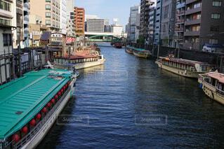 風景,建物,屋外,湖,ボート,船,川,水面,都会,旅行,港,神田川,屋形船,東京散歩