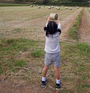風景,屋外,景色,草,人物,人,農業,畑,履物