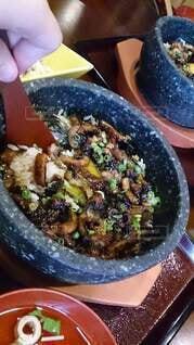 食べ物,ランチ,屋内,テーブル,料理,美味しい,贅沢,うなぎ,あつあつ,ひつまむし
