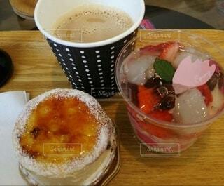 食べ物,カフェ,ケーキ,コーヒー,デザート,テーブル,レストラン,一息,菓子,さくら,コーヒー カップ