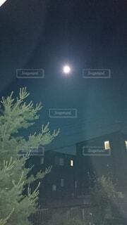 屋外,月,明るい