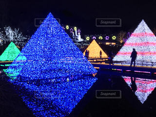 夜,屋外,綺麗,イルミネーション,クリスマス,栃木県,ピラミッド,足利市,2019年