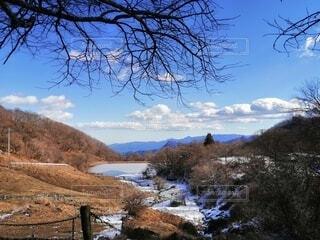 自然,風景,空,雪,屋外,湖,雲,水面,牧場,山,丘,樹木,草木