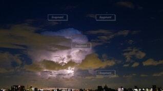 自然,風景,空,夏,夜,屋外,雲,入道雲,雷,積乱雲,夕立,雷雲,稲光,雷鳴