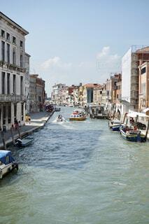 風景,空,建物,屋外,湖,ボート,船,川,水面,都会,旅行,イタリア,ヴェネツィア,水上バス,車両,水上バイク