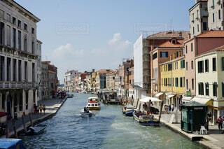 ヴェネツィアの水上経路の写真・画像素材[4375714]