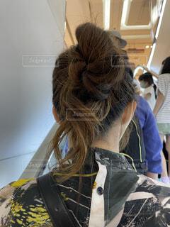 お団子アレンジの写真・画像素材[4408804]