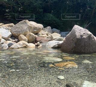 自然,屋外,川,水面,山,岩,地面