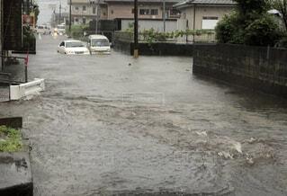 屋外,車,地面,車両,洪水