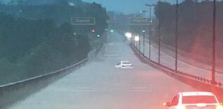 屋外,車,道路,道,運転,車両,洪水