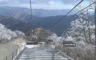 空,雪,屋外,山
