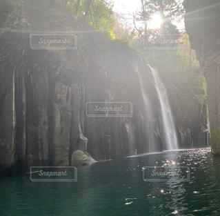 自然,屋外,川,水面,景色,滝