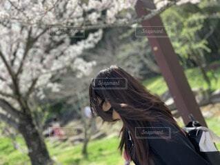 女性,風景,屋外,少女,樹木,人物,人,人間の顔